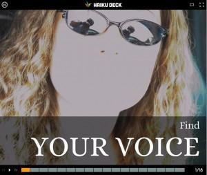 voice title